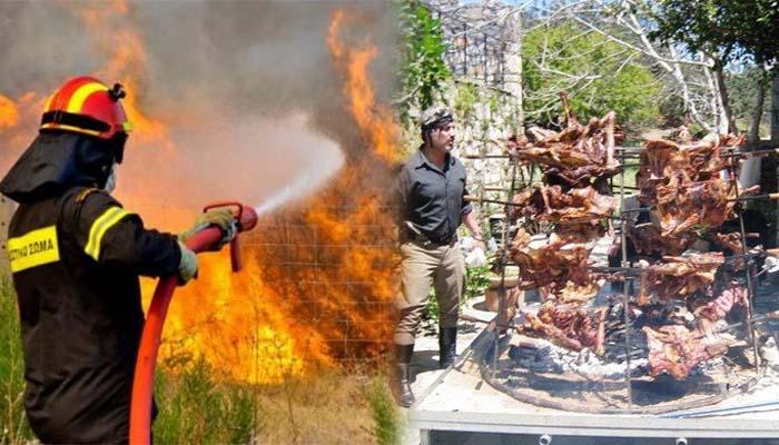 Εκπληκτικό: Η μεγάλη πυρκαγιά στο Ρέθυμνο ξεκίνησε από ψήσιμο αντικριστού για γαμήλιο γλέντι