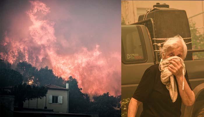 Εκτός ελέγχου η φωτιά στην Εύβοια - Oι φλόγες στα πρώτα σπίτια - Εκκενώθηκαν οικισμοί – Νέα φωτιά στην Ιστιαία
