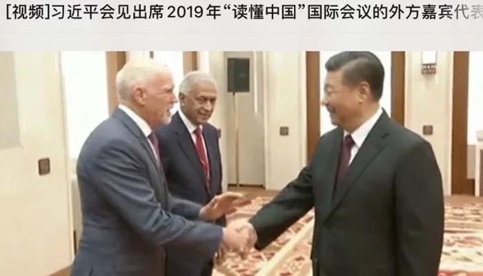 Συνάντηση του Προέδρου της Κίνας με τον Γιώργο Παπανδρέου στο Πεκίνο