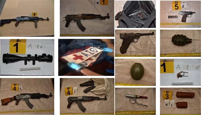Αντιτρομοκρατική: Ευτυχώς τους προλάβαμε - Αυτά είναι τα όπλα και ο εξοπλισμός της επαναστατικής αυτοάμυνας