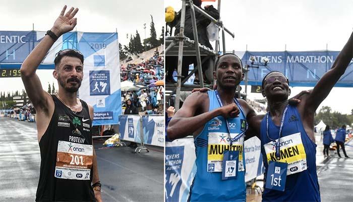 37ος Μαραθώνιος: Δυο Κενυάτες και ένας Έλληνας στο βάθρο των νικητών