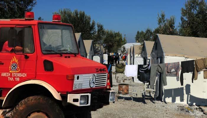 Πυρκαγιά στον καταυλισμό Καρά Τεπέ της Λέσβου με μια 27χρονη Αφγανή νεκρή