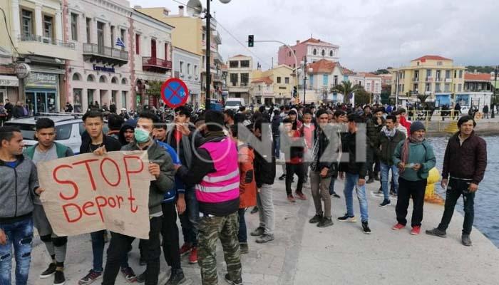 Μυτιλήνη: Στους δρόμους 2.000 πρόσφυγες ενάντια στο νέο νόμο Ασύλου