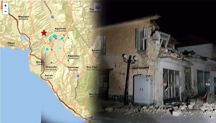 Ισχυρός σεισμός 5,6 Ρίχτερ στο Καναλάκι Πρεβέζης - Τρεις ελεφρά τραυματίες - Ζημιές σε κτίρια
