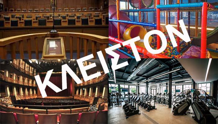 Κορονοϊός: Στα 117 τα κρούσματα - Κλείνουν δικαστήρια, θέατρα, κινηματογράφοι, παιδότοποι, γυμναστήρια, νυχτερινά κέντρα [Βίντεο]