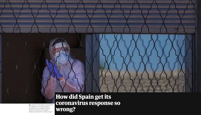 The Guardian: Έτσι ξέφυγε από κάθε έλεγχο ο κορονοϊός στην Ισπανία μέσα σε 18 ημέρες