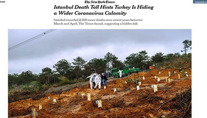 New York Times: Οι θάνατοι στην Κωνσταντινούπολη υποδηλώνουν πως η Τουρκία αποκτρύπτει ευρύτερη καταστροφή από τον κορονοϊό