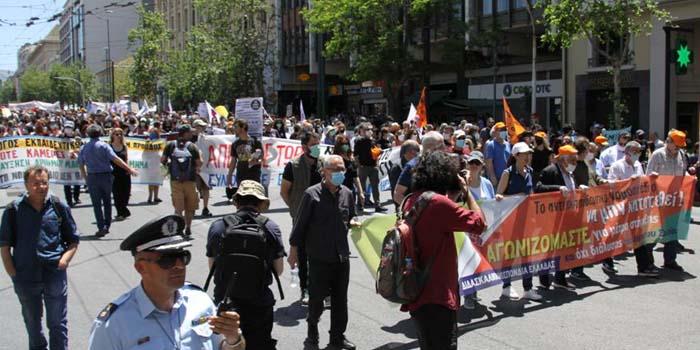 Δυναμικό εκπαιδευτικό συλλαλητήριο στο κέντρο της Αθήνας [Φωτο – video]