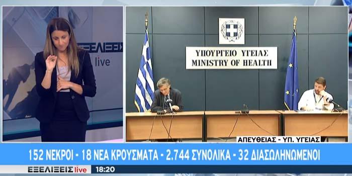 Κορονοϊός: Ένας νεκρός, 18 νέα κρούσματα στη χώρα -Live η ενημέρωση του υπουργείου Υγείας για τον κορονοϊό