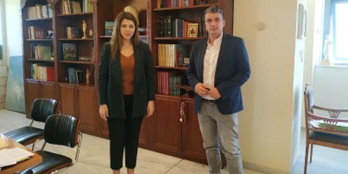 Συνάντηση Δημάρχου Βριλησσίων Ξένου Μανιατογιάννη με την Υφυπουργό Παιδείας κα Σοφία Ζαχαράκη