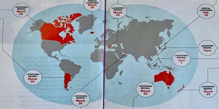 TIME: H Ελλάδα στον παγκόσμιο χάρτη των χωρών που αντιμετώπισαν με επιτυχία τον κορονοϊό