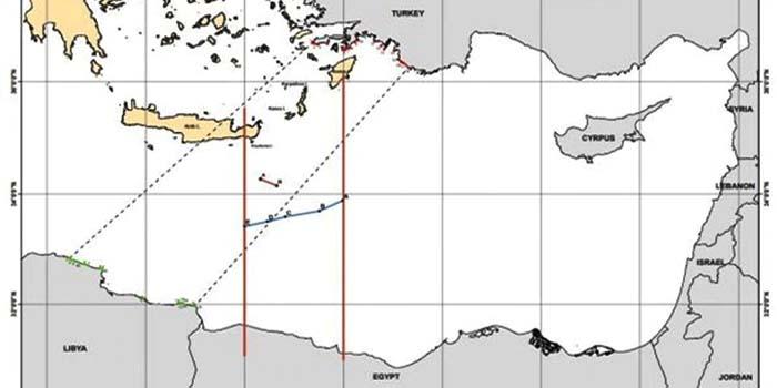 Συμφωνία Ελλάδας - Αιγύπτου: Αυτός είναι ο χάρτης οριοθέτησης ΑΟΖ μεταξύ των δύο χωρών