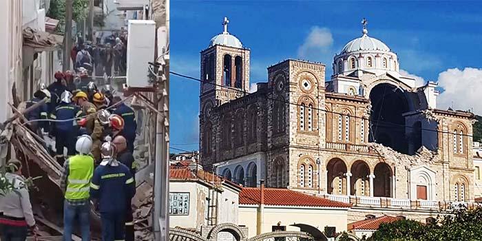 Σεισμός στη Σάμο: Καταστροφές στο νησί και 2 Νεκρά παιδιά – Κατέρρευσε εκκλησία στο Καρλόβασι