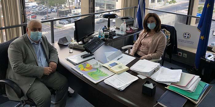 Συνάντηση εργασίας Νίκου Μπαρμπούνη με την Αντιπεριφερειάρχη ΠΕ Βορείου Τομέα κα. Λουκία Κεφαλογιάννη