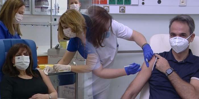 Εμβολιάστηκαν η Πρόεδρος της Δημοκρατίας και o Πρωθυπουργός [Βίντεο]