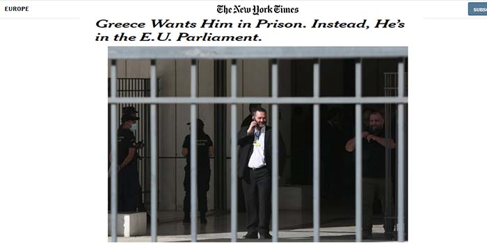 New York Times: Πώς ο Γιάννης Λαγός της Χρυσής Αυγής είναι ακόμη ελεύθερος