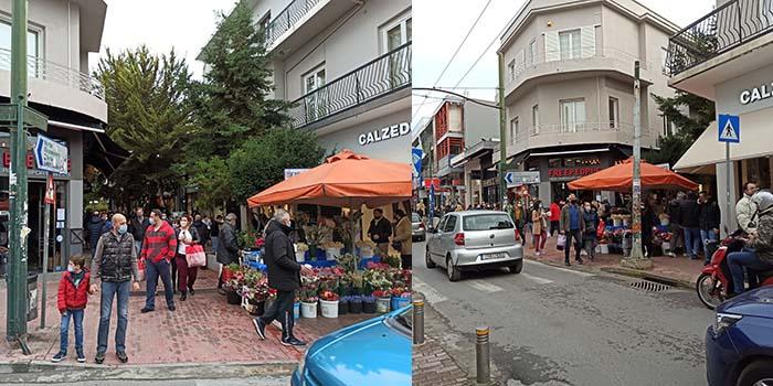 Lockdown: Πολύς κόσμος και σήμερα στην αγορά - Ουρές έξω από τα μαγαζιά [Φωτο]