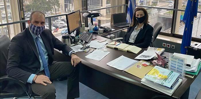 Συνάντηση Μάνου Κρανίδη με την αντιπεριφερειάρχη Λουκία Κεφαλογιάννη