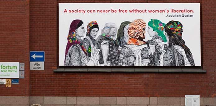 Ζωγραφιά κούρδισσας καλλιτέχνιδος, στο Όσλο, θυμώνει την Τουρκία που ζητά το κατάβασμά της - «Δεν κατεβαίνει», απαντά η Νορβηγία