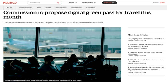 Politico: Το πλάνο της Κομισιόν για επανεκκίνηση ταξιδιών - Ερωτήσεις και απαντήσεις