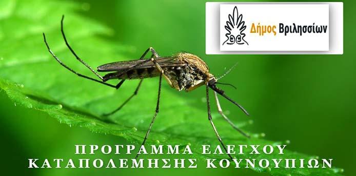 Δήμος Βριλησσίων: Πρόγραμμα ελέγχου - καταπολέμησης κουνουπιών στο Δήμο Βριλησσίων