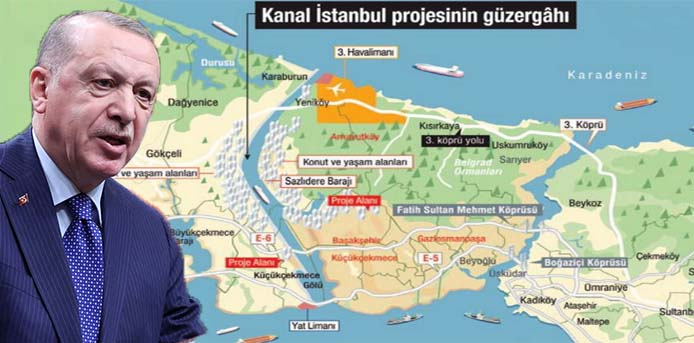 NY Times: O Ερντογάν αναζητά σανίδα σωτηρίας στη Διώρυγα της Κωνσταντινούπολης επειδή κατρακυλά στις δημοσκοπήσεις