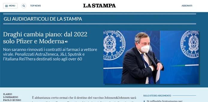 La Stampa: Δεν θα ανανεωθούν τα συμβόλαια με AstraZeneca και Johnson & Johnson για τα εμβόλια, από την Κομισιόν